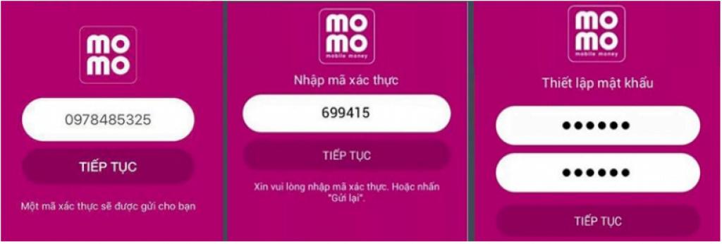đăng ký momo