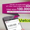 Hướng dẫn liên kết momo và vietcombank