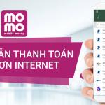 Thanh toán hóa đơn internet với momo