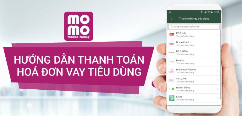hướng dẫn thanh toán vay tiêu dùng qua MoMo