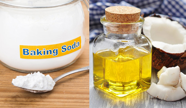hỗn hợp dầu gội baking soda