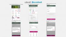 Liên kết ví MoMo với ngân hàng Sacombank